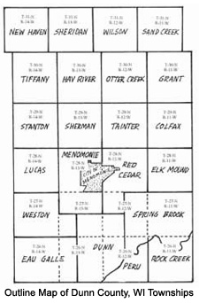 Dunn County Townships